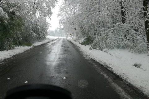 Zimowa droga zciekłym azotem